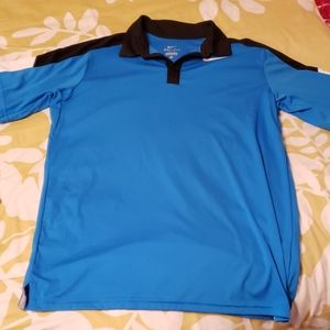 Black, blue and white youth Nike polo